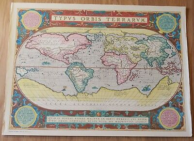 Hoffman LaRoche Series M7 Historic World Map Print