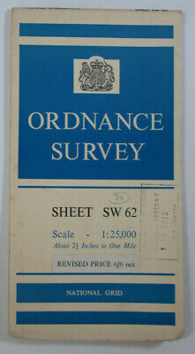 1960 Old Vintage OS Ordnance Survey 1:25000 First Series Map SW 62 Helston