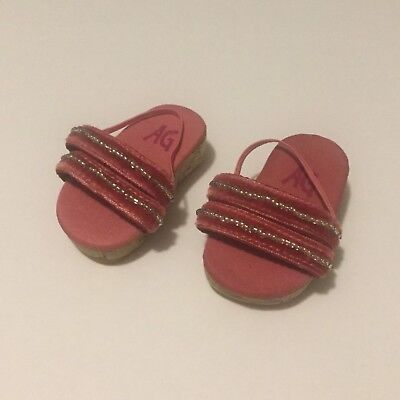 Retired American Girl Doll Pink Beaded Licorice Sandals From Best Friend Outfit