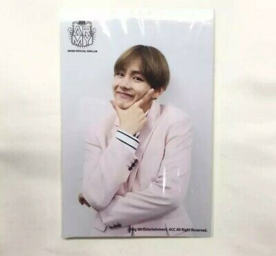 BTS TAEHYUNG Photocard JAPAN OFFICIAL FANCLUB ARMY Registration  Bangtan RARE 1
