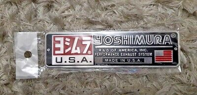 YOSHIMURA USA MOTORBIKE EXHAUST HEATPROOF DECAL/ VINYL/STICKER (140mm x 38mm)
