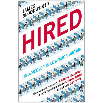 Hired Six Months Undercover in Low-Wage Britain Paperback Brand NEW