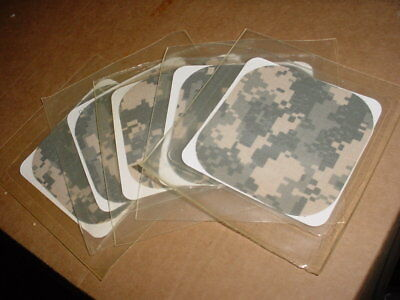 LOT OF 5 US ARMY MILITARY SURPLUS SOT ACU REPAIR PATCH ADHESIVE NO IRON 4 x 4