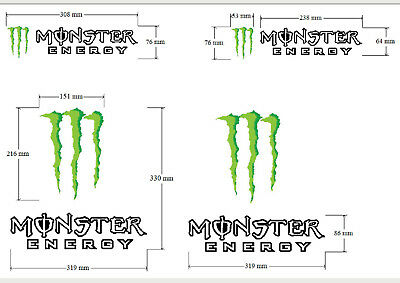 -Stickers Monster energy x4 idéal moto,scooter, voiture