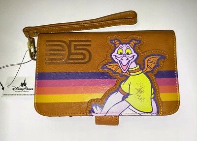 NWT Disney Parks Exclusive Epcot 35th Anniversary Figment Wallet Wristlet Clutch