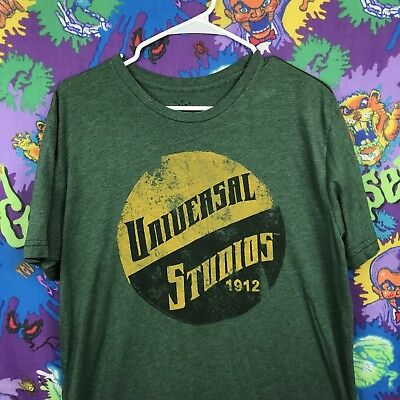 Universal Studios Hollywood California T-Shirt Green Yellow Adult Large #Q