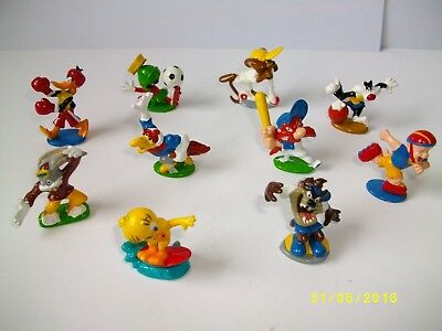 Lot 10 Mini Figurines Looney Tunes Sport / Warner Bros Toons Figures