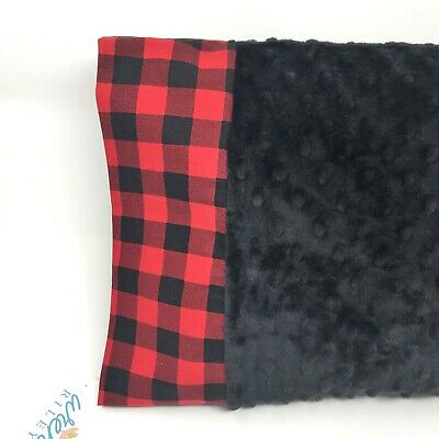 NWT Buffalo Plaid Red Check Minky Dot Toddler Pillowcase 12x16 Nap Bed Travel