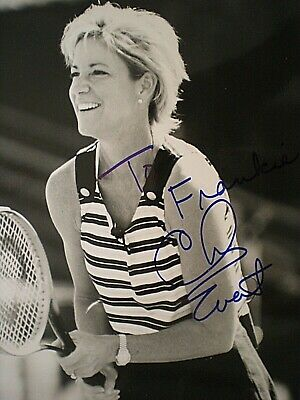 Hand Signed Young And Beautiful Photo Tennis Legend Chris Evert Lloyd