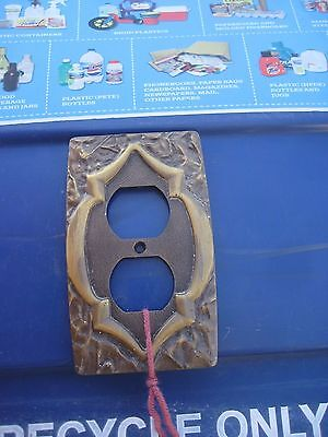 Vintage ** AMEROCK ** Metal 1-Gang Duplex Outlet Receptacle Wall Plate Lot of 1