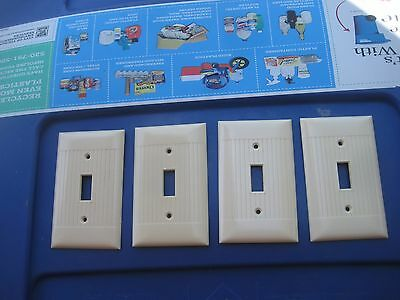 Vintage * SIERRA ELECTRIC * 1-Gang Toggle Switch Wall Plate Lot of 4