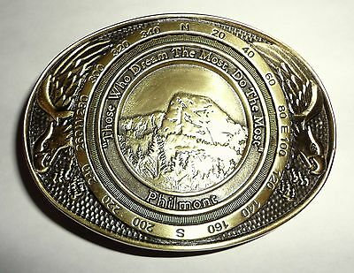 Philmont Scout Ranch Screaming Eagle Bronze Belt Buckle - Boy Scouts of America