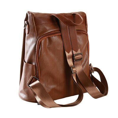 Female Ladies Soft Leather Travel Backpack Casual Fashion Anti-theft Bag CB