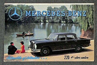 Mercedes Benz Color Brochure Showing Their 1960 Model Cars Advertising Postcard
