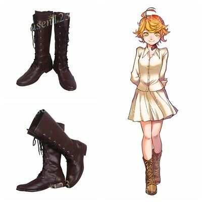 The Promised Neverland Emma Shoes Cosplay Women Boots COS Customized