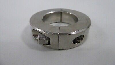 """Climax 2C-125-S Clamping Collar Stainless Steel 1 1/4"""" Bore Split 1/2"""" Wide"""