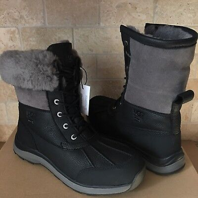 a8ae7cdd08c UGG ADIRONDACK III Black Grey Waterproof Leather Snow Boots Size US ...