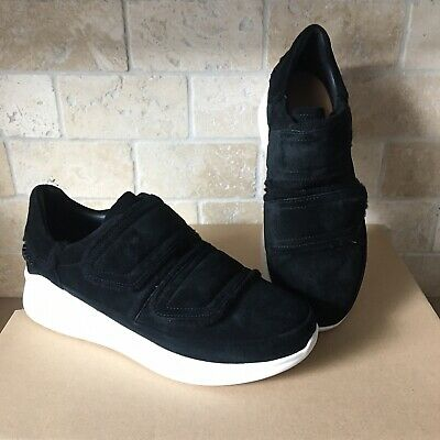 5763dc85264 UGG ASHBY SPILL Seam Black Suede Wedge Chunky Sneakers Shoes Size 9 Womens