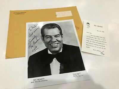 Tex Beneke was an American saxophonist, singer + bandleader Hand Signed Photo