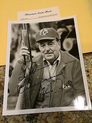 Tennessee Ernie Ford Autographed Signed 8 x 10 Photo 1983 Oklahoma Quail Club