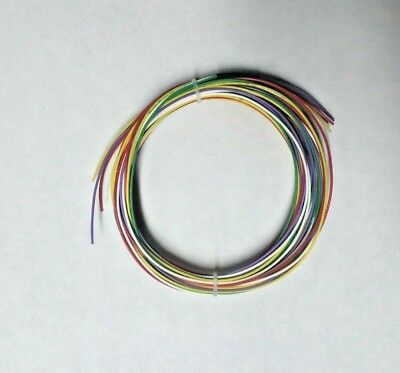 24 AWG Mil-Spec Wire (PTFE) Stranded Silver Plated Copper, Assortment 50 ft