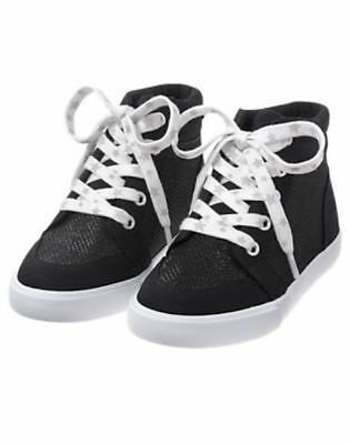 NWT Gymboree Back to Blooms Girls Black Sneakers Shoes High Top 11