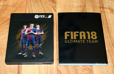 FIFA 18 Ultimate Team EA Sports Xbox One PS4 Steelbook with Sleeve & Motion Card