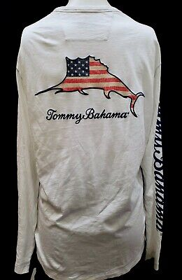 73acbf2f New Tommy Bahama Men's Embroidered Long Sleeve Lux T-Shirt, Mult. Colors &