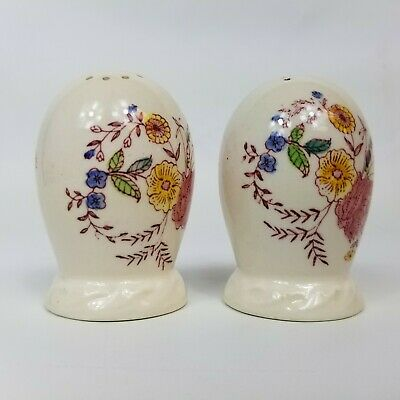 Vintage Ceramic Chintz Floral Salt and Pepper Shaker Set of 2
