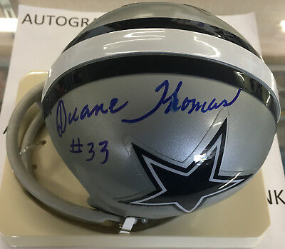 cd6908e3482 DUANE THOMAS AUTOGRAPHED Dallas Cowboys throwback mini helmet ...