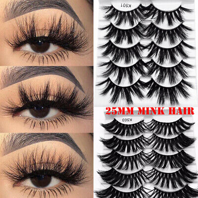 Cross Dramatic False Eyelashes Eye Lash Extension 3D Soft Mink Hair 25mm Lashes