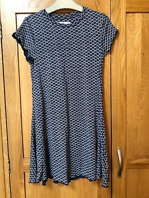 Girls M&S Summer Blue Frill Dress Age 8-9 Years-Beautiful Condition