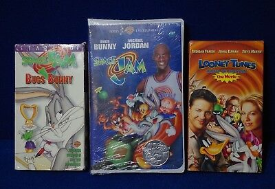 51c21c8d562474 Lot Of VHS Tapes Space Jam   Space Jam Bugs Bunny   Looney Tunes Back In