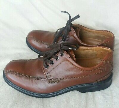 c2b52dbbef3786 Clarks Men s Colson Over Oxfords Brown Leather Shoes Size 8.5 Model 26068037