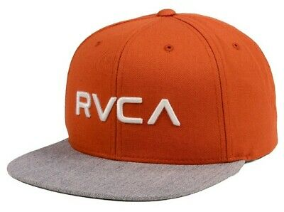 competitive price 54937 210cc RVCA Twill Mens Snapback Hat (NEW) 6 Panel VA Cap NAVY BLUE TEAL Ruca