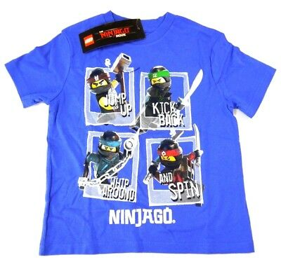 35ddfe35 Lego Ninjago Movie Boys Blue Character Short Sleeve T-Shirt Gift for Kids  XS NWT