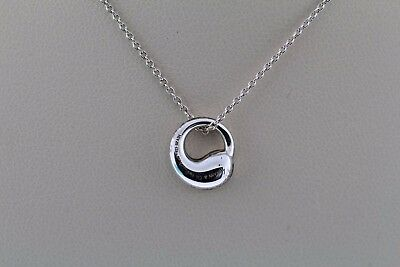 Tiffany & Co. Elsa Peretti Eternal Circle Pendant Necklace Sterling Silver .925