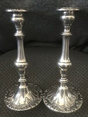 Gorham Sterling Silver Filigree Design Candlesticks Vintage Rare Find