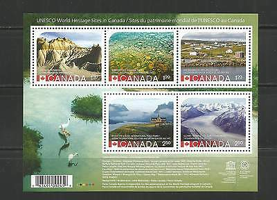 "S/S #2857  Unesco Heritage Sites  ""Reprint"""