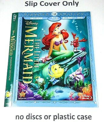 The Little Mermaid - Embossed Slip Cover Only (no blu ray / dvd) Diamond Edition