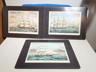 Vintage 1983 PIMPERNEL Placements Limited Edition Clipper Ships lot of 3