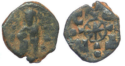 Byzantine Nicephorus III AE Follis Constantinople mint Contemporary imitation