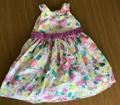 Gymboree 3T Dress Floral Water Color - Barely Worn