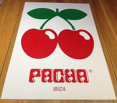 Cartes de collection OFFICIAL Pacha Ibiza Club Sticker Logo Cut out Cherries 2017 White Red