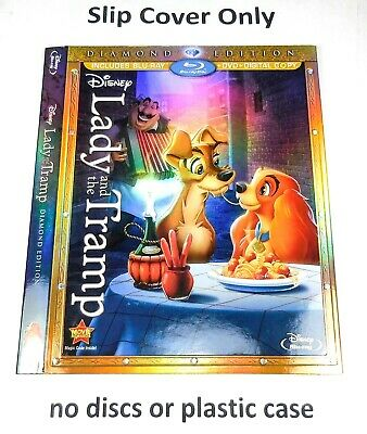 Lady and the Tramp - Embossed Slip Cover Only (no blu ray / dvd) Diamond Edition