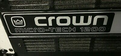 Crown Microtech 1200 Power Amplifier