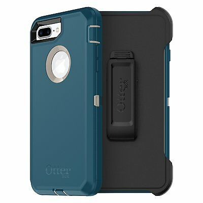 OtterBox DEFENDER SERIES Case for iPhone 8 Plus & iPhone 7 Plus (BLUE) NO SCREEN