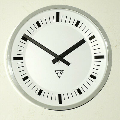 old wall clock PRAGOTRON - Factory Railway School - vintage retro loft antique