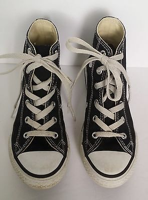 66542515865a Converse All Stars Youth Sz 13.5 Black Lace Up High Top Tennis Basketball  Shoes