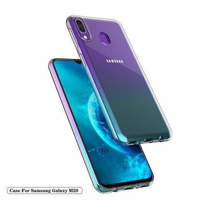 For Samsung M10 M20 Case Slim Crystal Clear Transparent Best Silicone TPU Cover